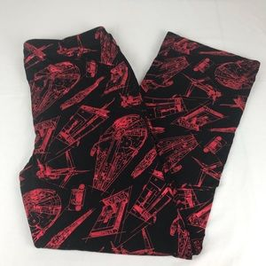 Star Wars Black w/Red Metallic Pajama Bottoms
